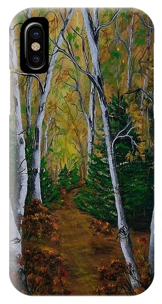 Birch Tree Forest Trail  IPhone Case