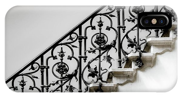 Staircase iPhone Case - Forged Handrail by Gilbert Claes