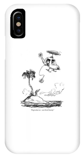Shipwreck iPhone Case - Forget About Me - Save Social Security by Robert Weber