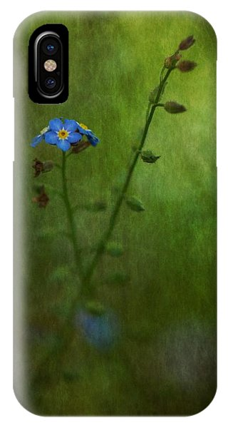 Forget Me Not Light Space Time Botanicals Art Exhibition 2014 Special Merit Award IPhone Case