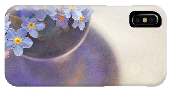 Forget Me Nots In Blue Vase IPhone Case