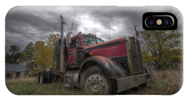 Left iPhone Case - Forgotten Big Rig 2014 V2 by Aaron J Groen