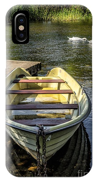 Moor iPhone Case - Forgotten Boat by Adrian Evans