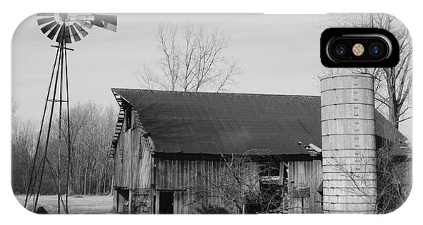 Forgotten Farm In Black And White IPhone Case