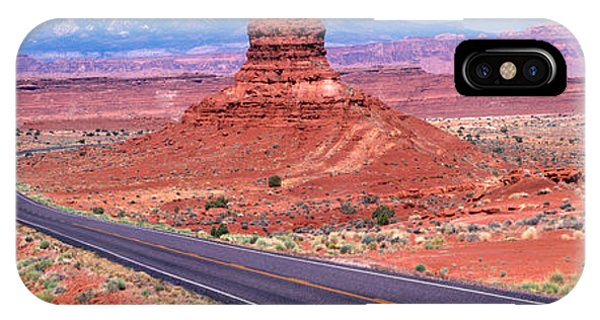 Split Rock iPhone Case - Fork In Road, Red Rocks, Red Rock by Panoramic Images