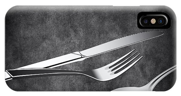 Fork iPhone Case - Fork Knife Spoon 10 by Angelina Tamez