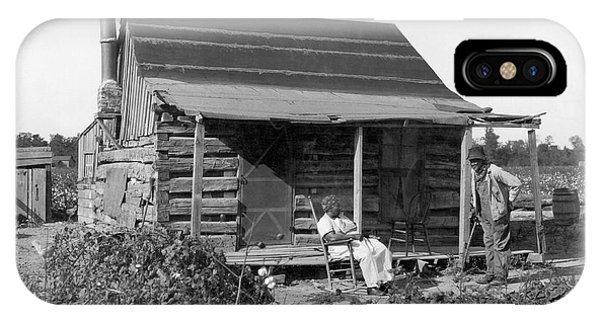 Porches iPhone Case - Former Slaves At Their Cabin by Underwood Archives