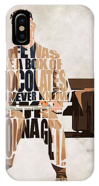 Vector iPhone Case - Forrest Gump - Tom Hanks by Inspirowl Design