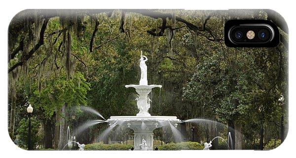 Forsyth Park Fountain - D002615 IPhone Case