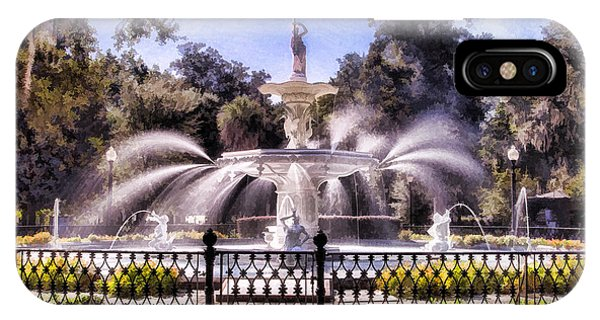 Forsyth Park Fountain IPhone Case