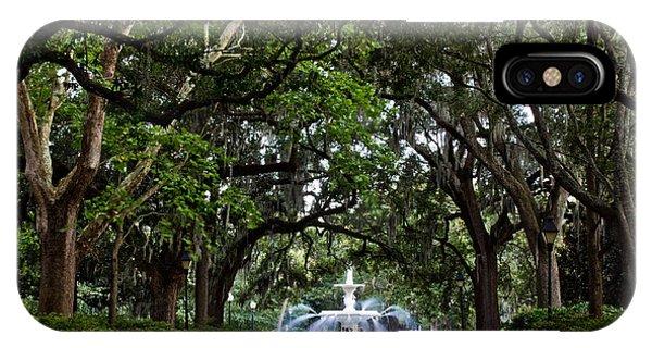 Forsyth Park Fountain Savannah Georgia  IPhone Case