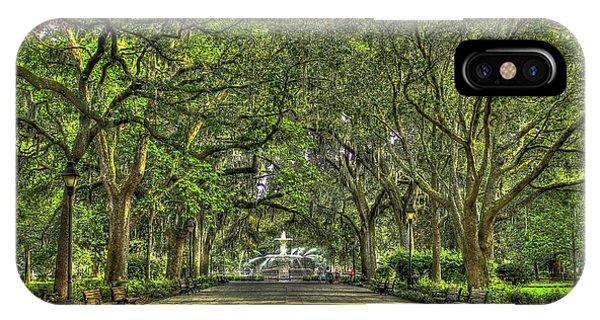 St. Patricks Day iPhone Case - Forsyth Park Fountain Savannah by Reid Callaway
