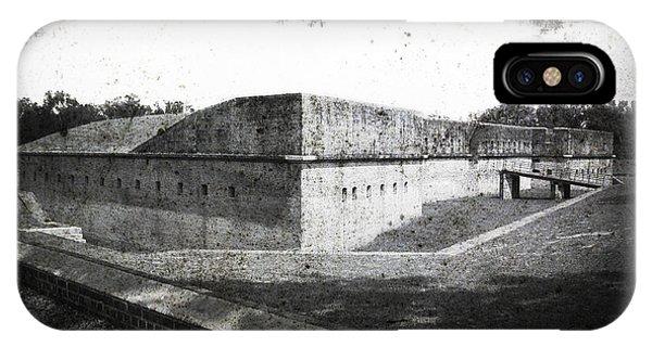 Fort Barrancas Faux Civil War Era Photograph IPhone Case