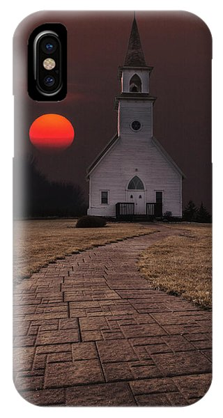 Sun iPhone Case - Fort Belmont Sunset by Aaron J Groen