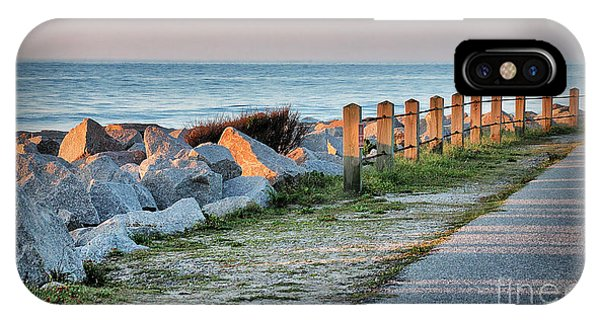 Fort Fisher Rocks At  Sunrise IPhone Case
