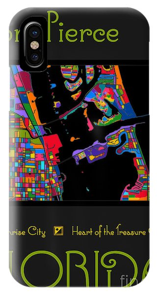 Fort Pierce Map No.2 IPhone Case