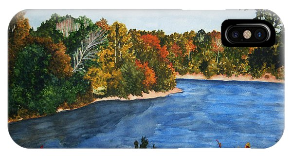 Fort Toulouse Coosa River In Fall Phone Case by Beth Parrish