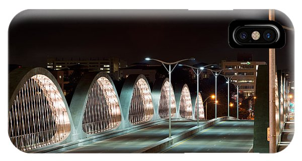Fort Worth Seventh Street Bridge Oct 10 2014 IPhone Case