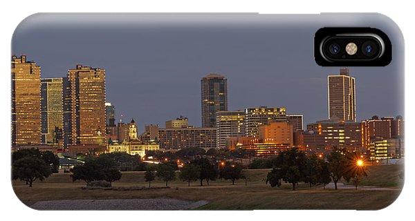 Fort Worth Skyline Golden Hour IPhone Case