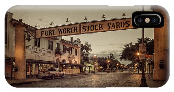 Road Signs iPhone Case - Fort Worth Stockyards by Joan Carroll