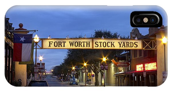 Fort Worth Stockyards IPhone Case