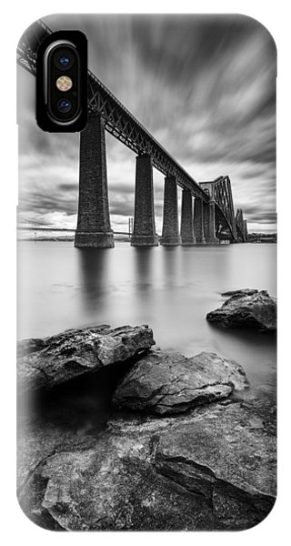 Monochrome iPhone Case - Forth Bridge by Dave Bowman