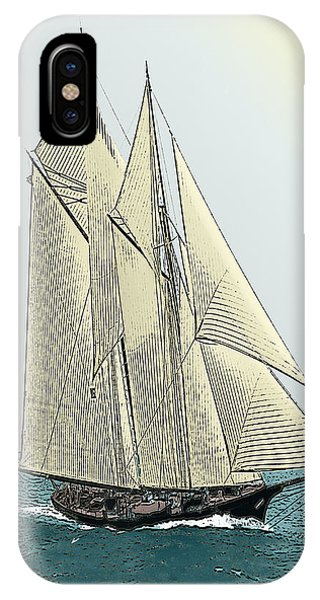 Fortuna - Schooner Yacht IPhone Case