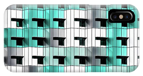Teal iPhone Case - Forty Windows by Wayne Pearson