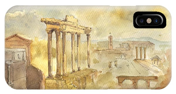 Columns iPhone Case - Forum Romano by Juan  Bosco