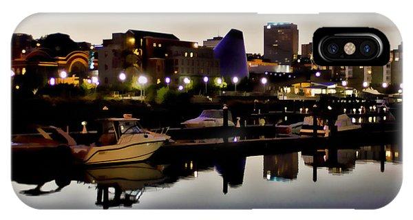 Foss Waterway At Night IPhone Case