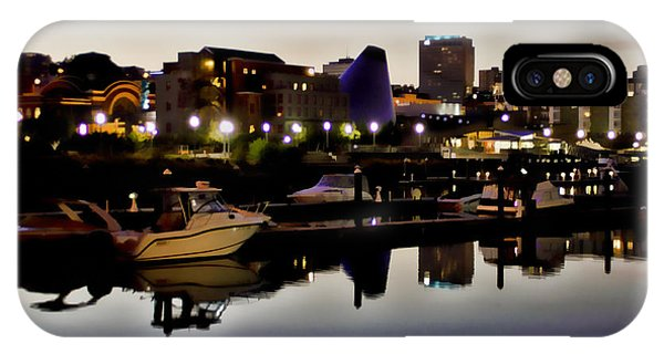 Foss Waterway At Night IPhone Case