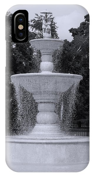 Fountain By The Pool IPhone Case