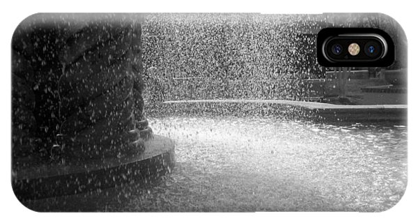 Fountain In Black And White IPhone Case