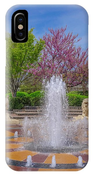 Fountain In Coolidge Park IPhone Case