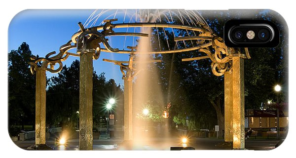 Fountain In Riverfront Park IPhone Case