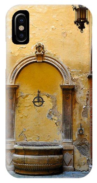 Fountain In Sienna IPhone Case