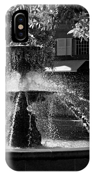 IPhone Case featuring the photograph Fountain On Place Toulzac / Brive La Gaillarde by Barry O Carroll