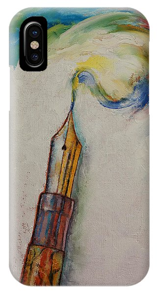 Illusion iPhone Case - Fountain Pen by Michael Creese