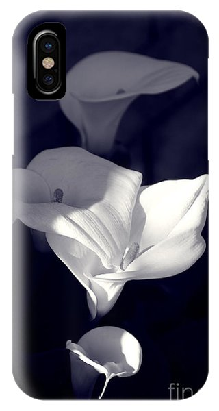Four Calla Lilies In Shade IPhone Case