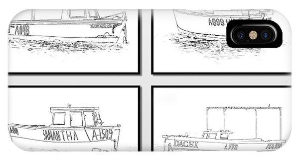 Four Fishing Boats Of Aruba IPhone Case
