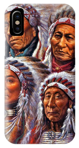 Four Great Lakota Leaders IPhone Case