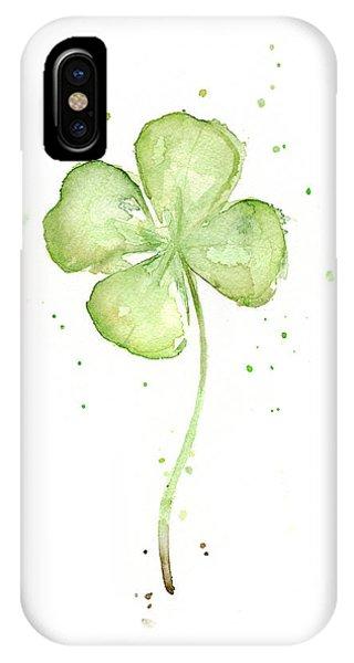 Four Leaf Clover Lucky Charm IPhone Case