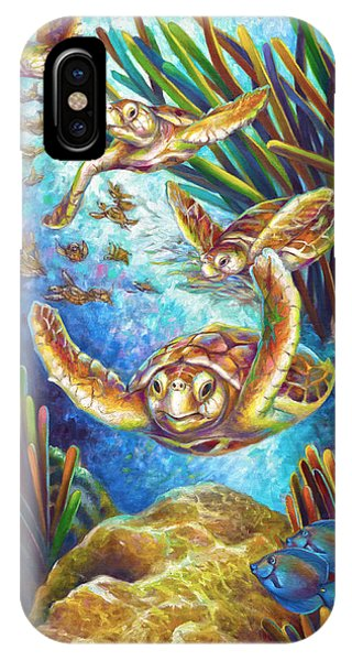 Four Loggerhead Turtles IPhone Case