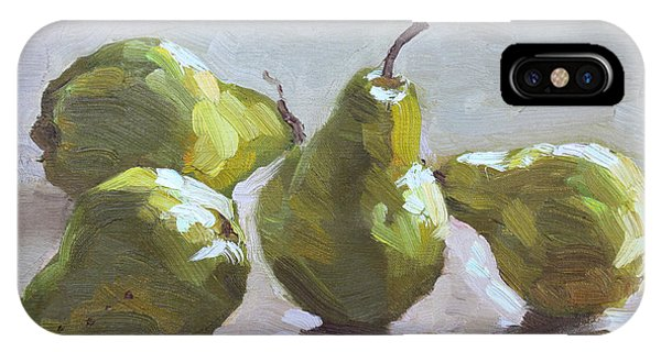 Pear iPhone Case - Four Pears by Ylli Haruni