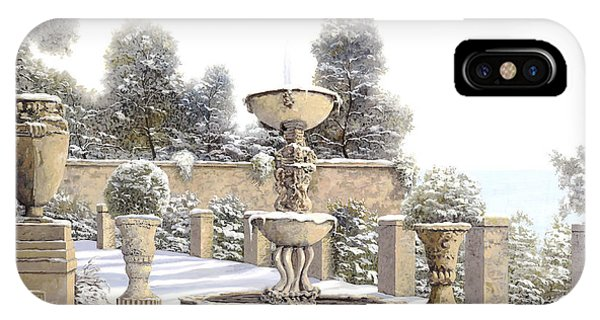 Ice iPhone Case - four seasons-winter on lake Como by Guido Borelli