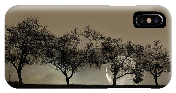 Four Trees And A Moon IPhone Case