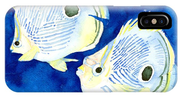 Foureye Butterflyfish IPhone Case