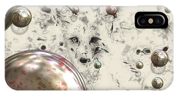 Fox Bubbles  IPhone Case