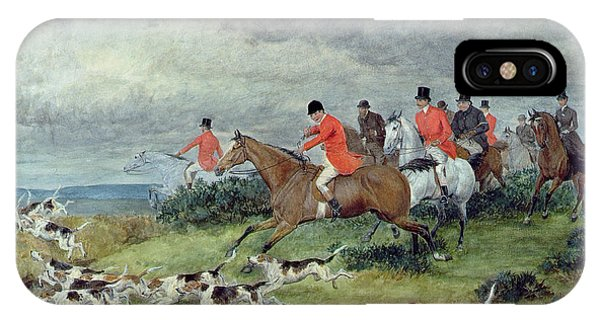 Scent iPhone Case - Fox Hunting In Surrey by Randolph