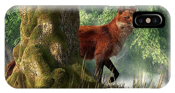 Fox In A Forest IPhone Case